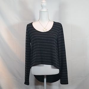 Striped Wool Long Sleeve Top